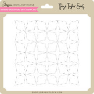 Diamond Background Stitch Template
