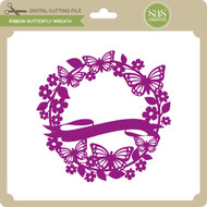 Ribbon Butterfly Wreath
