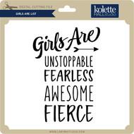 Girls Are List