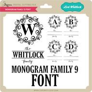 Monogram Family 9 Font