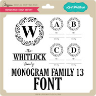 Monogram Family 13 Font