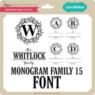Monogram Family 15 Font