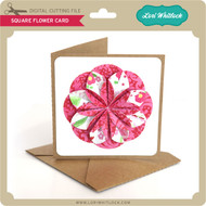 Square Flower Card