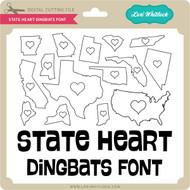 State Heart Dingbats Font