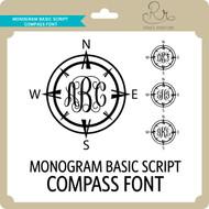 MonogramBasicScript Compass Font