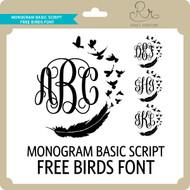 MonogramBasicScript Freebirds Font