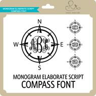 MonogramElaborateScript Compass Font