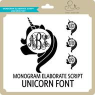MonogramElaborateScript Unicorn Font