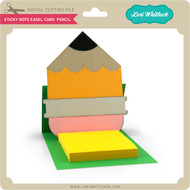 Sticky Note Easel Card Pencil