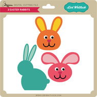 3 Easter Rabbits