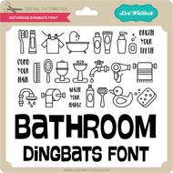 Bathroom Dingbats Font