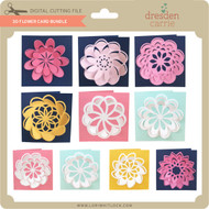 3D Flower Card Bundle