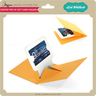 Center Pop Up Gift Card Holder