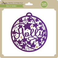 Holly Ivy Bauble