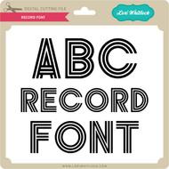 Record Font