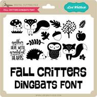 Fall Critters Dingbats Font