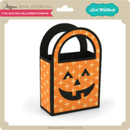 2 on 12x12 Bag Halloween Pumpkin