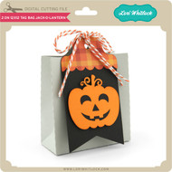 2 on 12x12 Tag Bag Jack O Lantern