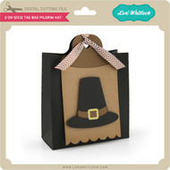 2 on 12x12 Tag Bag Pilgrim Hat