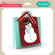 2 on 12x12 Tag Bag Snowman