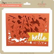 Hello Fall Background Card