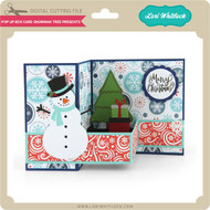 Pop Up Box Card Snowman Tree Presents