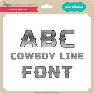 Cowboy Line Font