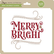 Merry and Bright Flourish 2