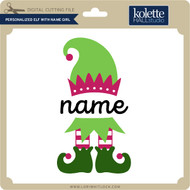 Personalized Elf with Name Girl