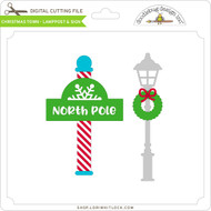 Christmas Town - Lamppost & Sign