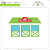 Christmas Town - Reindeer Barn