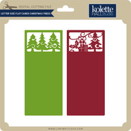 Letter Size Flat Cards Christmas Trees