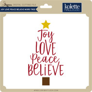 Joy Love Peace Believe Word Tree
