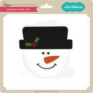 Snowman Shaped Card