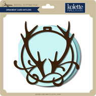 Ornament Card Antlers