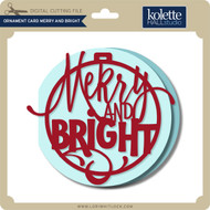 Ornament Card Merry and Bright