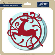 Ornament Card Reindeer