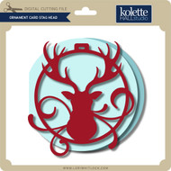 Ornament Card Stag Head
