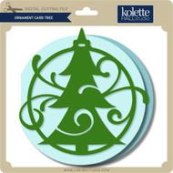 Ornament Card Tree