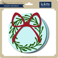 Ornament Card Wreath