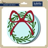 Ornament Card Wreath