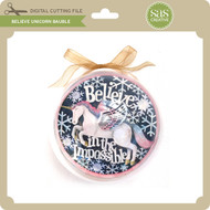 Believe Unicorn Bauble