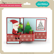 Pop Up Box Card Santa Presents