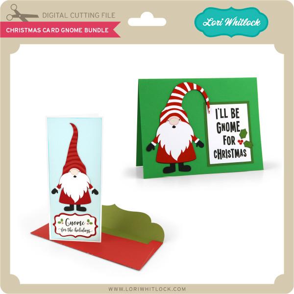 Christmas Gnomes Svg.Christmas Card Gnome Bundle