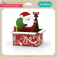 A2 Box Card Santa Chimney