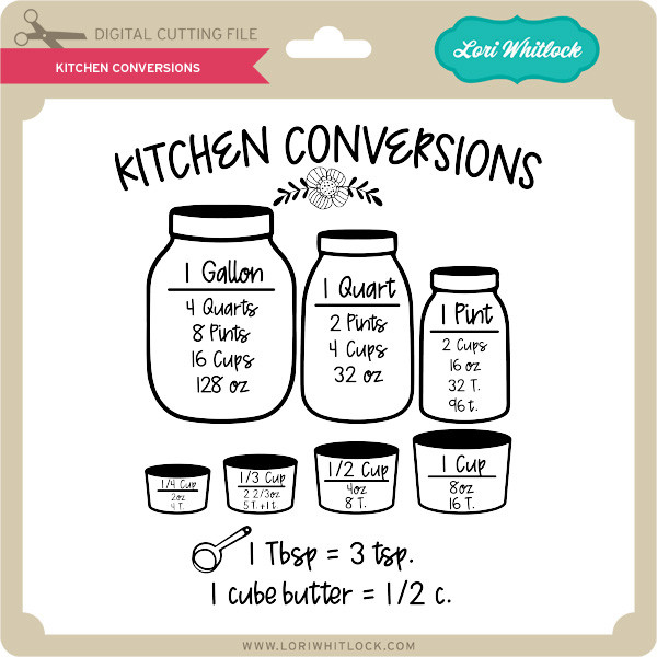 Download Kitchen Conversions - Lori Whitlock's SVG Shop