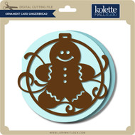 Ornament Card Gingerbread