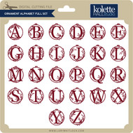 Ornament Alphabet Full Set