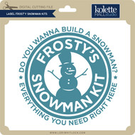 Label Frosty Snowman Kits