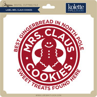 Label Mrs Claus Cookies
